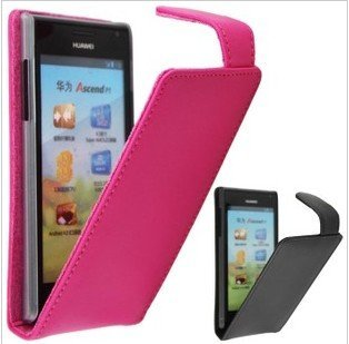 For Huawei Ascend P1 U9200, Free shipping Doormoon flip genuine leather protective case cover skin