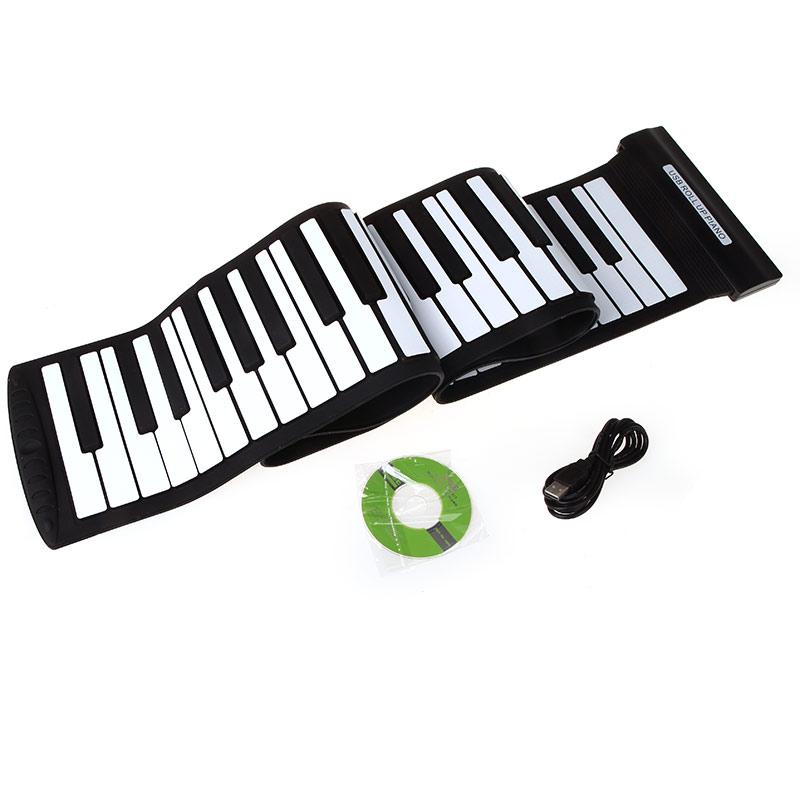 High Quality USB 88 Keys MIDI Roll up Piano Silicone Electronic Piano Music Keyboard Flexible Professional Electronic Organ(China (Mainland))