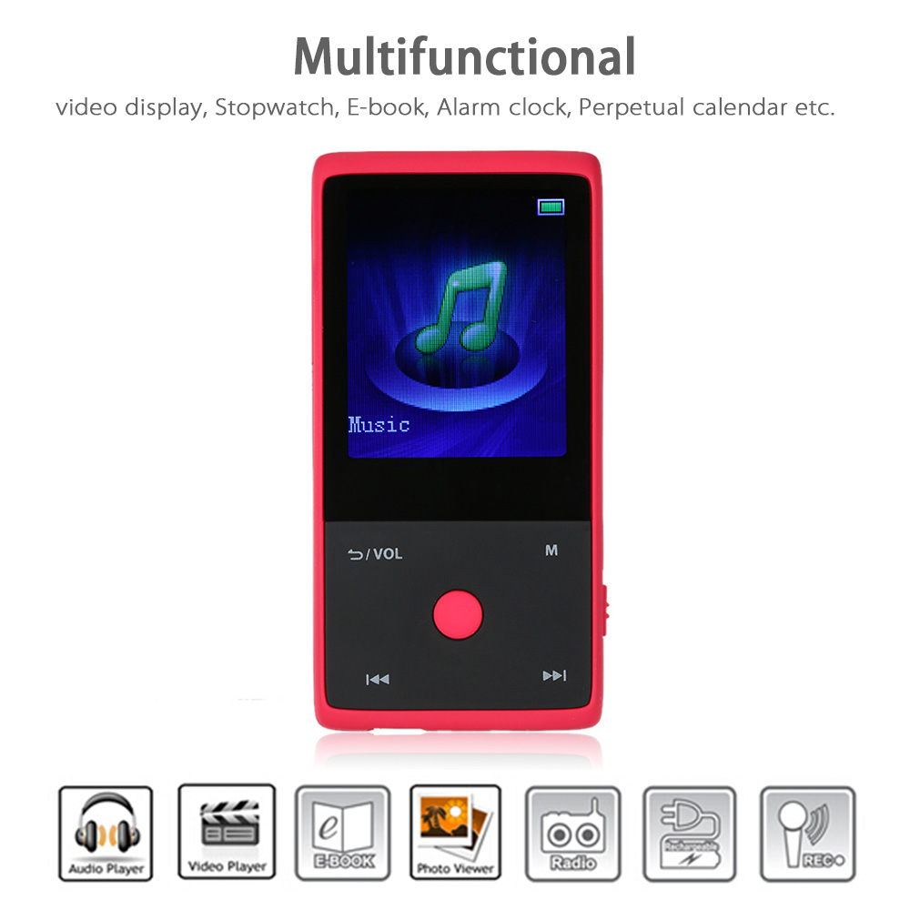New Bluetooth MP3 Player HOTT MU1036 8GB 1.8 Inch Screen Sports MP3 Player Build-in FM Radio Lossless Recorder E-Book Clock(China (Mainland))