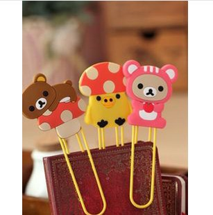 Гаджет  Novelty Mushroom Series Rilakkuma Paperclip Cartoon Bookmark Index Memo Clip Wholesale None Офисные и Школьные принадлежности