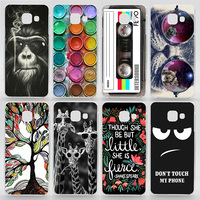 Case For Samsung Galaxy A3 2016 A310 A310F Transparent Coloured Drawing Phone Cover For Samsung A3 2016 Plastic Hard Phone Cases
