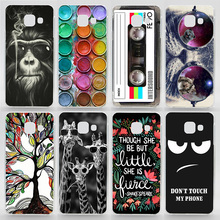 Case For Samsung Galaxy A3(2016) A310 A310F Transparent Coloured Drawing Phone Cover For Samsung A3(6) Plastic Hard Phone Cases