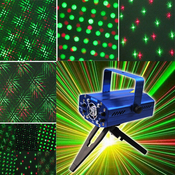 SD09 150mw Red & Green DJ Mini Disco Laser Stage Lighting With Tripod /US-Plug Power Adapter Party Light Projector(China (Mainland))