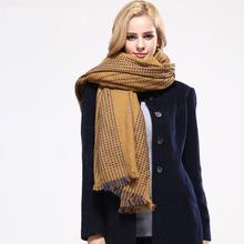 Women Fashion Winter Hijab Oversized Square designer scarf Stripes Shawls Tassel Scarves Large pashmina Cashmere Bandana Capes(China (Mainland))