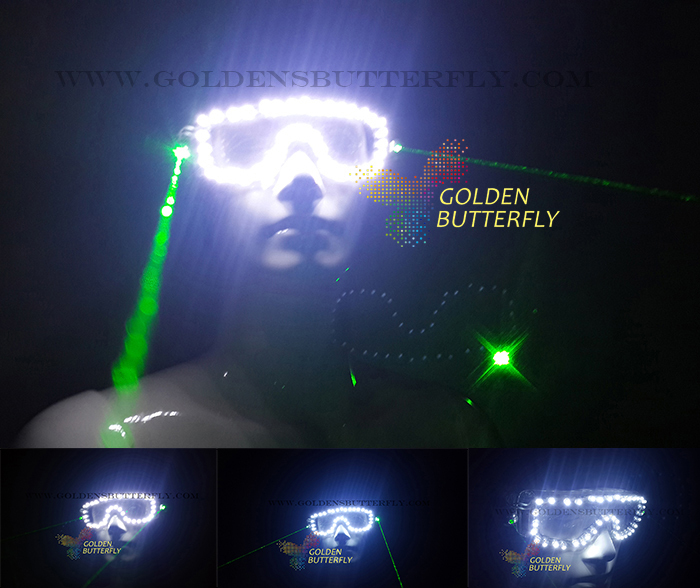 Laser luminous glasses Activities Fashion glowing glasses Ball For Men's/Women's LED glasses party lights for dance Accessories(China (Mainland))