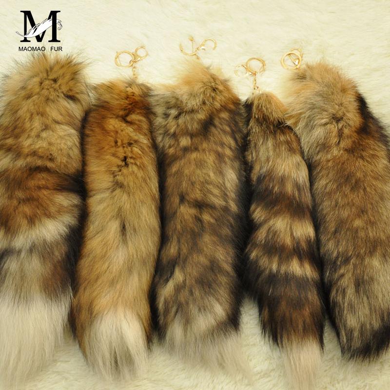 2016New Design Real Raccoon Tail Keychain llaveros Classic Key Fur chaveiro Bag Ornaments Tag Charms porte cle Car Keyring WH108(China (Mainland))