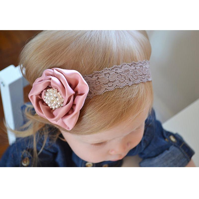 Baby girl hair with hair Fashion baby baby headband comfortable headband roses(China (Mainland))