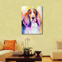 Hand Painted Color Animals Oil Painting Hang Paintings Modern Elephant Picture For Home Decor Canvas Painting AN-118G