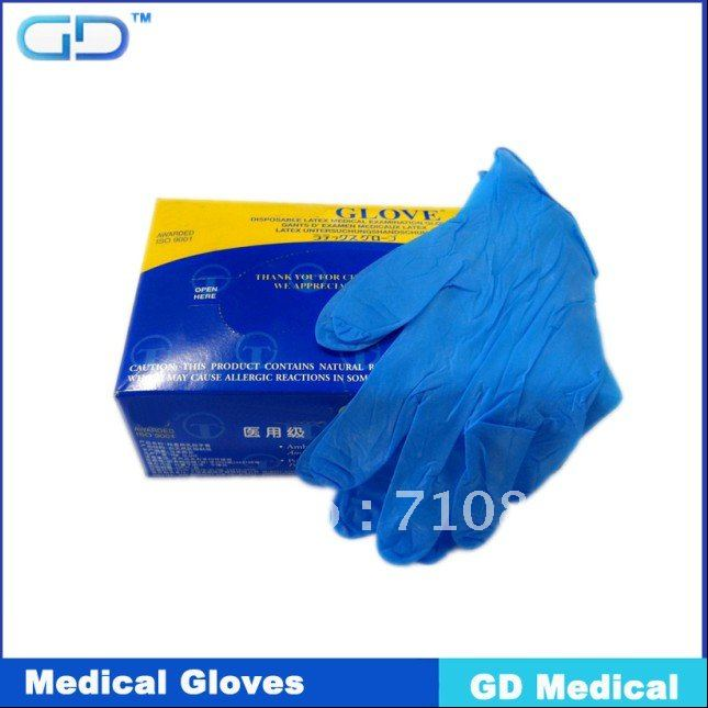 CE certificate nitrile gloves AQL1.5 size M 4G FERR SHIPPING(China (Mainland))