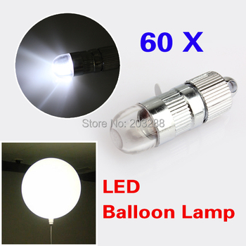 Lot of 60x White LED Party Decoration Lights For Paper Lanterns Balloons Floral Free Shipping