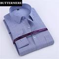 BUTTERMERE Brand Clothing Men Fashion Shirts Bamboo Fabric Cotton Long Sleeve Dress Shirt Formal Wear Business