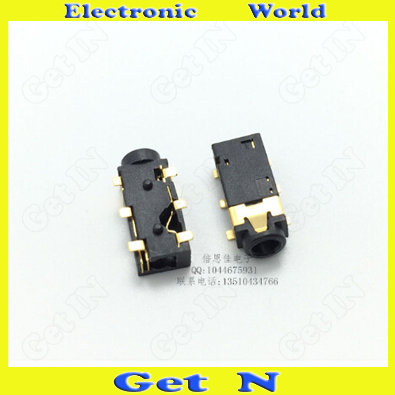300pcs  PJ-242 2.5mm Headphone Connectors 2.5mm Auido Video Female Connector Jack 6Pins SMD PJ-242B<br><br>Aliexpress