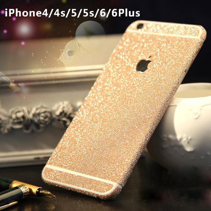 DIY Twinkling Colorful Cell Phone Case Border Cover for iphone 4 4S 5 5s 6 6s / 6 Plus 6s plus SJK53(China (Mainland))