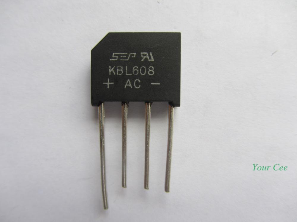 2pcs KBL608 6A Bridge Rectifier(China (Mainland))