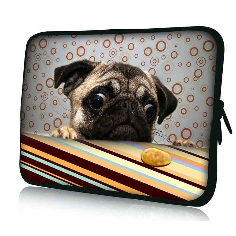 Cute dog laptop bag sleeve notebook computer case 9 7 10 1 for Housse 17 pouces