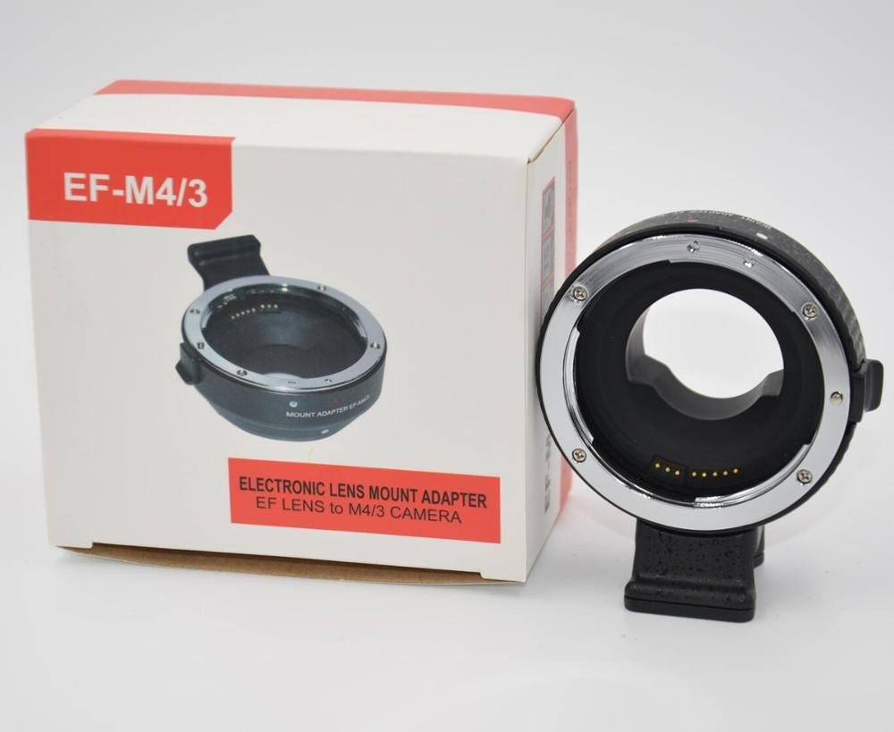 EF-MFT Electronic Aperture Control Lens Mount Adapter forCanon EF EF-S toOlympus E-P1 P2 3 Panasonic LUMIX GH2/3/4 EF-M4/3Camera
