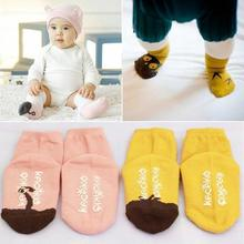 Factory Price Cute Toddler Baby Soft Socks Cartoon Owl Pattern Socks Infants Cotton Socks