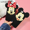 6S Case New Hot Cartoon Minnie Mickey Big Head Cute Phone Back Bag Cover For iPhone