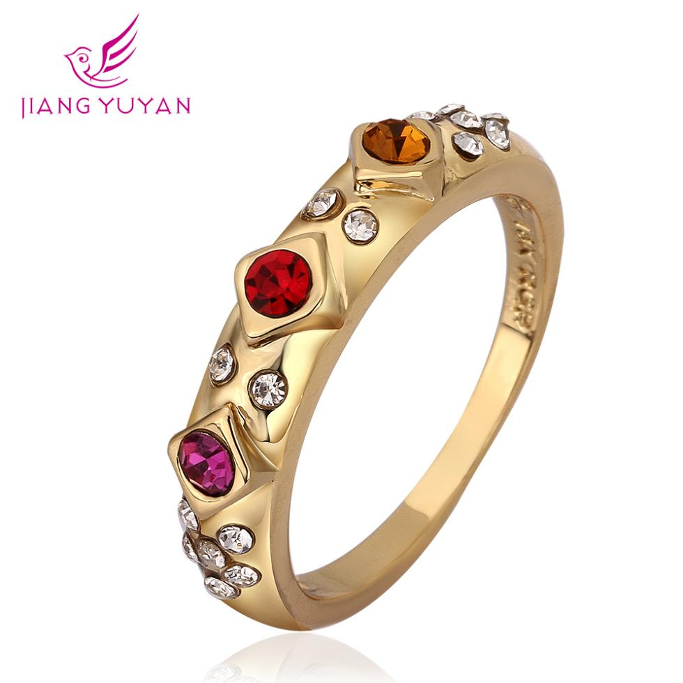 2015 Direct Selling New Vintage Ruby Jewelry Bijoux Austria Rings Plated Finger Bow Ring Zircon Women