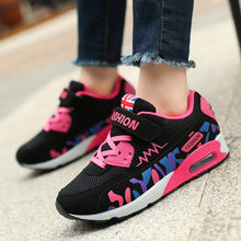 PINSEN 2019 ילדי בנות נעלי ספורט לנשימה אלסטי אוויר כרית נעליים יומיומיות אופנה ילדי נעלי ספורט ילדה נעלי ספורט(China)