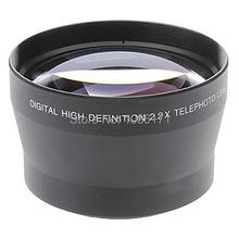 Free Shipping Professional 67mm 2.2x TELE Telephoto Lens for Digital Camera DSLR(China (Mainland))