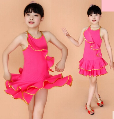 Child Latin dance dress competition latin dance costume latin fringe dress for girls wholesales and retails(China (Mainland))