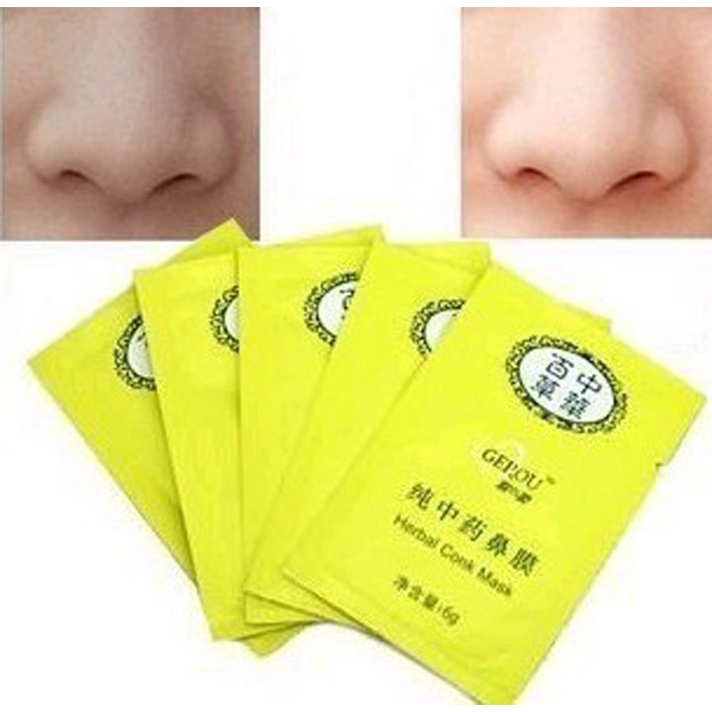 Beauty Works10 PCS Herbal Deep Cleansing Nose Pores Blackhead Remove Mask Face For Black Head Skin Care(China (Mainland))