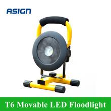 T6 bewegliche Flutlicht wiederaufladbare tragbare Camping Scheinwerfer LED Flutlicht Grünland für 3*18650 Batterie enthalten Ladegerät(China (Mainland))