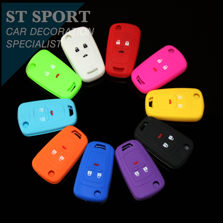 Silicone Car remote key cover protection shell case suitable Chevrolet Chevy Cruze /TRAX/ Aveo/ Lova/ Sail - ST-Sport store