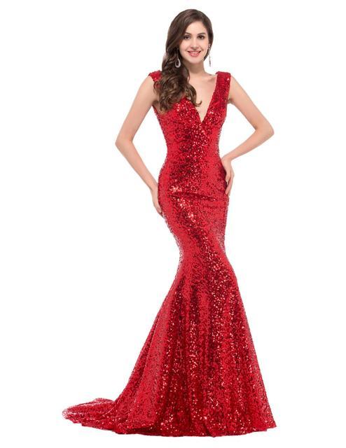 Пром платья грейс карин синий красный черное золото сексуальная русалка пром платья ...