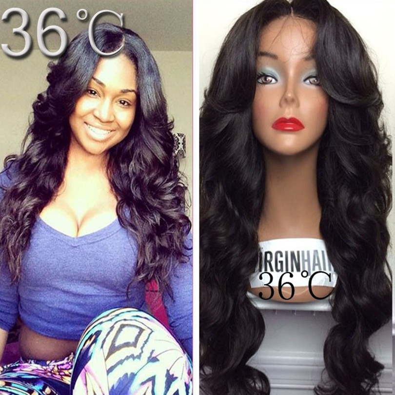 Unprocessed Virgin Glueless Full Lace Wig Peruvian Body Wave Human Hair Wigs Full Lace Front For Black Women Natural Hairline <br>