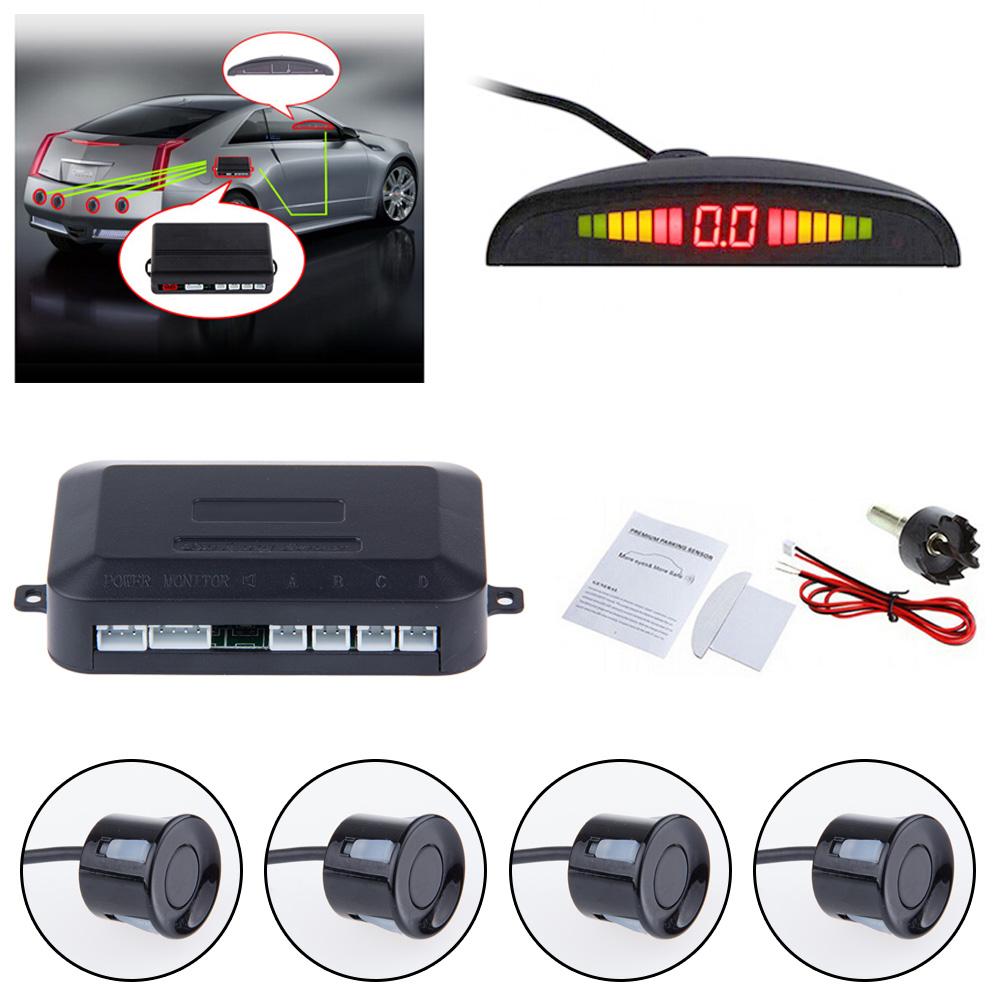 Car Auto Parktronic LED Parking Sensor With 4 Sensors Reverse Backup Car Parking Radar Monitor Detector System Backlight Display(China (Mainland))