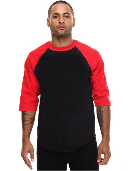 3/4 sleeve blank cotton raglan baseball fashion t shirt men O-Neck tshirt(China (Mainland))