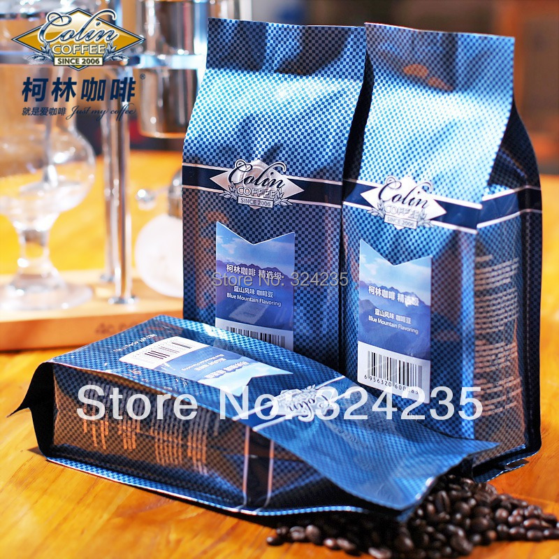 Mild Roasted Pure Organic Coffee Beans Arabica coffee beans 454g bag Blue mountain coffee beans corkin