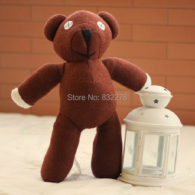 1piece 13'' 35cm Mr Bean Teddy Bear Animal Stuffed Plush Toy Brown Figure Doll Children Free shipping Retail(China (Mainland))