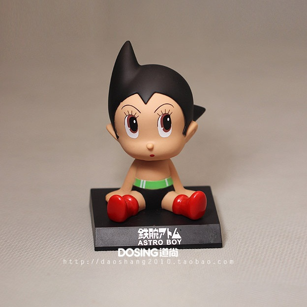 Animation Garage Kid Tetsuwan Atom Children Baby Toys: Action Figure PVC Dolls Astro Boy Model Car Shaking Toys Excellent Gifts(China (Mainland))