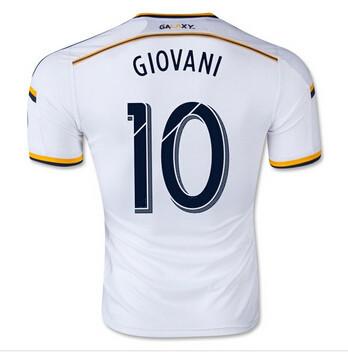 2016 LA Galaxy Home Soccer Jersey 15 16 LA Galaxy GIOVANI White football uniform shirt camiseta(China (Mainland))