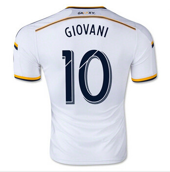 2016 LA Galaxy Home Soccer Jersey 15 16 LA Galaxy GIOVANI White football uniform shirt camiseta(China (Mainland))