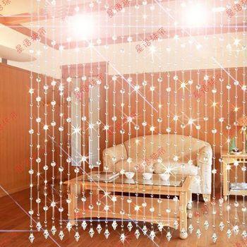 Rideau de perles de cristal perles de rideau pour la partition porte d 39 entr e rideaux de perles - Rideaux de perles pour portes ...