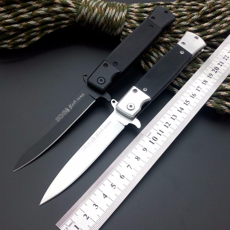 Buy Hot Folding Knife 440 Blade G10 Handle Sog Pocket Knife Survival Camping Tactical Hunting Knives Outdoor Tools Free Shipping cheap