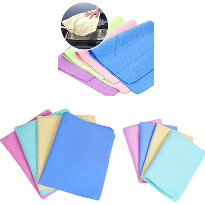 Colorful Magic Car Washing Wipe Towel Cloth Absorber Synthetic Chamois Leather 2016 New(China (Mainland))