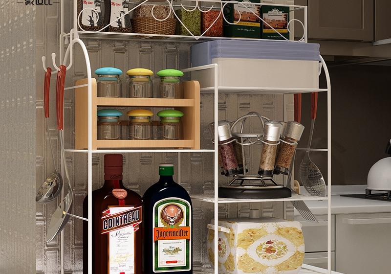 Kitchen shelf kitchen shelf bracket decorative frame side hook racks Free installation<br><br>Aliexpress