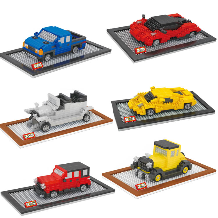 Dr Star Small Model Car Building Toys Car Model DIY Micro Bricks Small Auction Figures Boy Gift Famous Car Juguetes Kids Toys(China (Mainland))