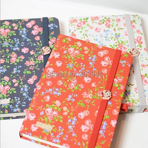 Леди элегантный маленький красивый цветок тетради 190*135мм тетради блокноты блокнот для дневника / мода подарки 3 стиль оптовые продажи