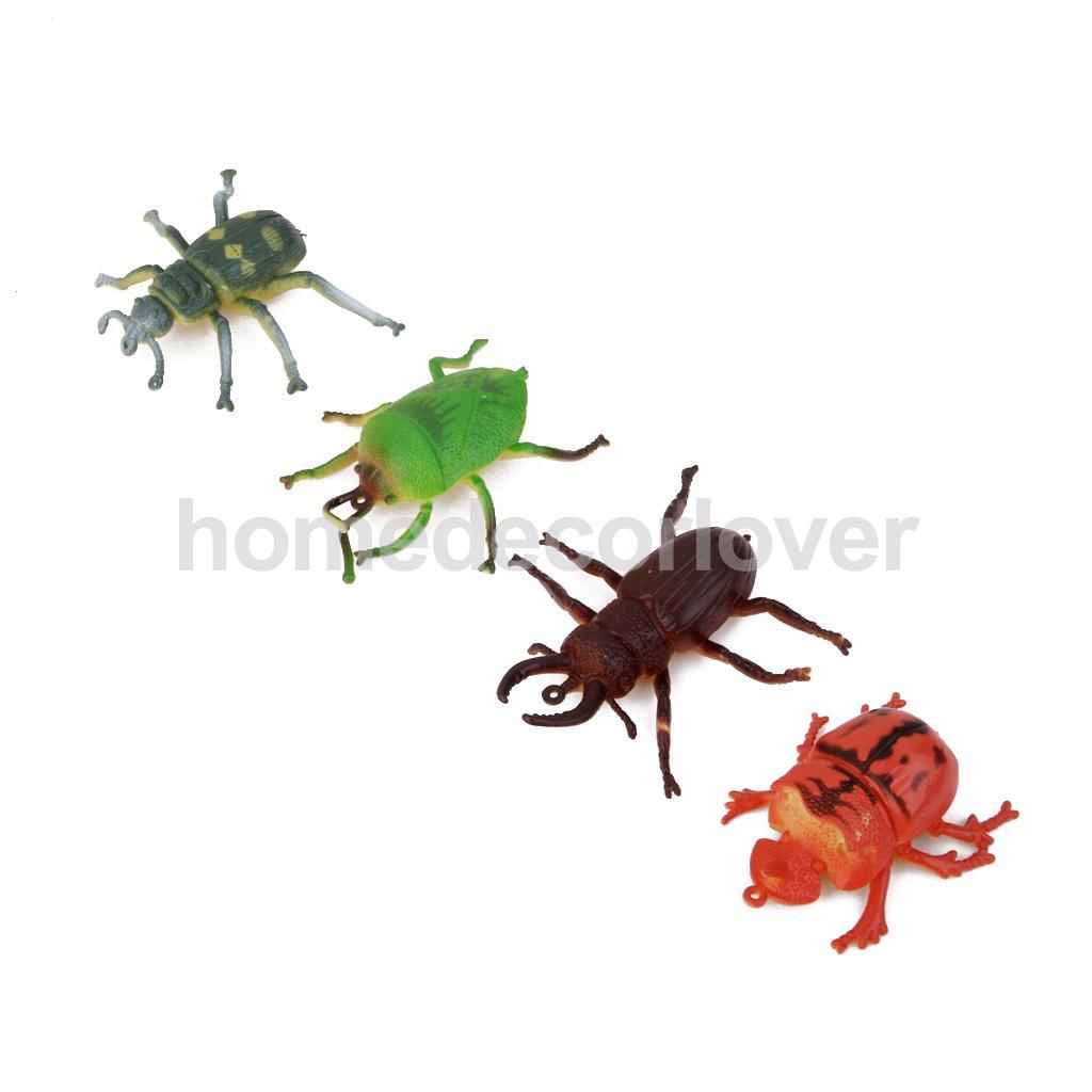 12 Plastic Bugs Insect Scorpion Centipede Model Animals Kids Prank Joke Toy(China (Mainland))