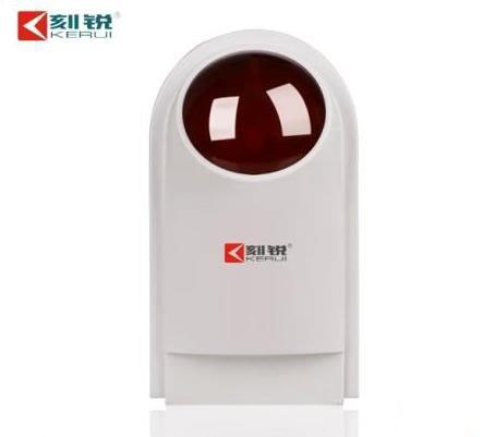 2014 Kerui Alarm System KR-J007 Wired Outdoor Indoor Strobe Siren Sound Flash Light with Backup Battery for any Alarm System(China (Mainland))