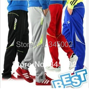 2014 New Hot Brand trousers legs football training sport pants the leg quick-drying soccer pants RED color free ship ePacket(China (Mainland))