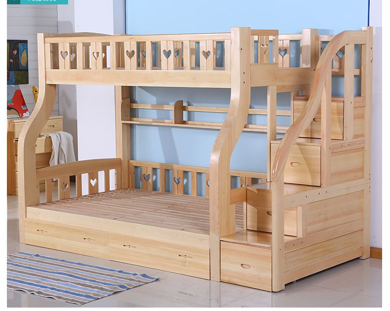 Ladder cabinet wood bed for children(China (Mainland))