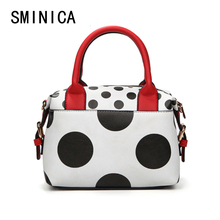 Buy Dot Women Messenger Bags Bolsa Feminina Handbags Famous Brands Crossbody High Leather Woman Clutch Hand Bag hit 1S9084 for $18.99 in AliExpress store