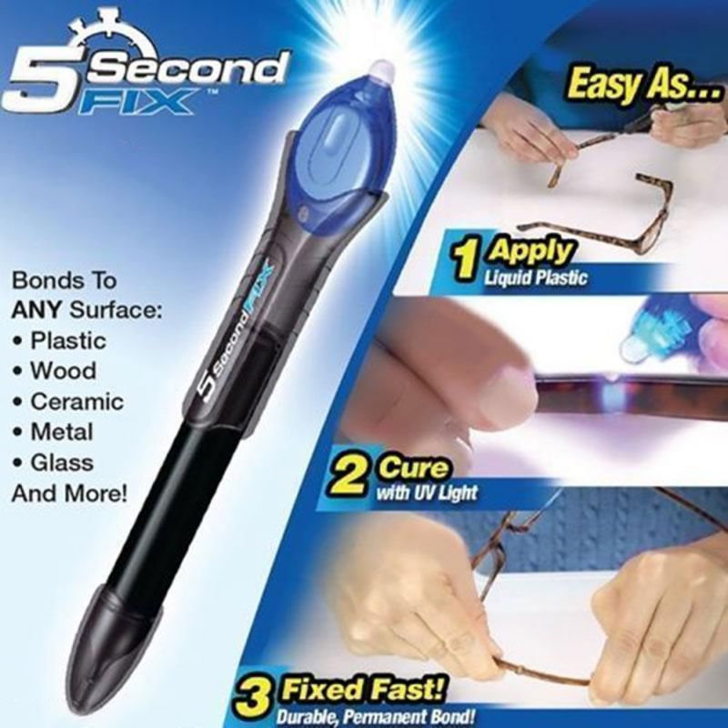 1PC 5 Second Fix UV Light Repair Tool With Glue Super Powered Liquid Plastic Welding Compound HH1(China (Mainland))
